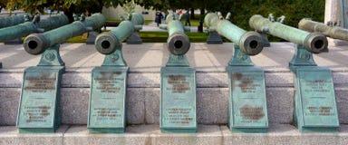 Canons à Moscou Kremlin image libre de droits
