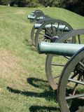 Canons aan het Juiste Burgeroorlogslagveld Royalty-vrije Stock Fotografie