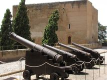 Canons in battle position Stock Photography