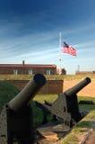 Canons bij Fort McHenry, Baltimore royalty-vrije stock afbeeldingen