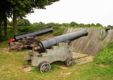 Canons in Bourtange Royalty Free Stock Photography