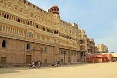 Canons buiten Junagarh-Fort royalty-vrije stock fotografie
