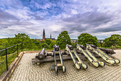 The Canons and the Cathedral, Sweden Royalty Free Stock Photo