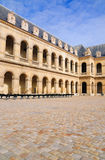 Canons on the courtyard of Les Invalides royalty free stock photography