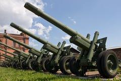 Canons d'artillerie Photographie stock libre de droits
