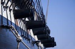 Canons de bateau Photographie stock