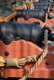 Canons de bateau Photo libre de droits