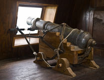 Canons de Galleon de XVIIème siècle photo stock