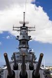 Canons de l'USS Missouri Photos libres de droits