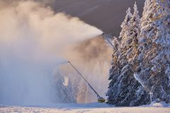 Canons de neige images stock