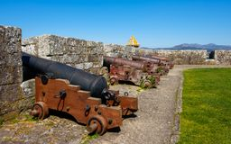 Canons de tour de Tenaza, baiona photo stock