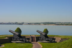 Canons at Fort McHenry Stock Image