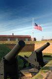 Canons at Fort McHenry, Baltimore Royalty Free Stock Images