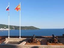 Canons at fortress in Herceg Novi, Montenegro Stock Image