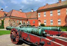 Canons in the garden of Gripsholm Castle Royalty Free Stock Image