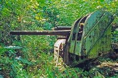 Canons japonais d'ère de la deuxième guerre mondiale sur l'île de Pohnpei Image stock