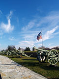 Canons in Kalemegdan Fortress Stock Photography