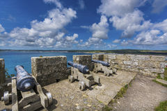 Canons at mount st michael island fortress Royalty Free Stock Photos