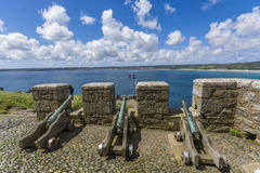 Canons at mount st michael island fortress Royalty Free Stock Photography