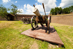 Canons near wall Stock Photography