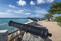 Canons at Needhams Point Barbados West Indies Royalty Free Stock Images
