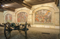 Canons in the old city of Geneva, March 2016 Stock Photos