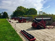 Fort McHenry canons Royalty Free Stock Photography
