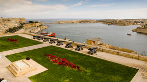 Canons Protecting Valletta Port Stock Photography