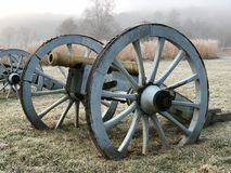 Canons at sunrise. Valley forge pa Pennsylvania sunrise canons Stock Photography