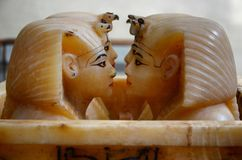 Canopic jars  of the Pharaoh Tutankhamun Royalty Free Stock Images