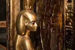 Canopicheiligdom van Tutankhamun Tentoonstelling in Peter en Paul Fortress stock afbeelding