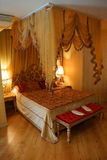 Canopied bed. ISTANBUL, TURKEY - MAY 17, 2014 -Canopied bed in Hotel Albatross,  in Istanbul, Turkey Royalty Free Stock Image