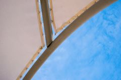 Canopied sun protected. Botom close view Stock Image