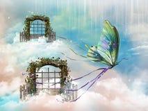 Canopies of fantasy stock photo