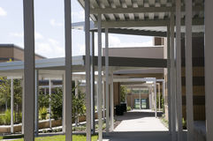 Canopies at Middle School Royalty Free Stock Image