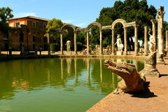 Canopo - villa Adriana Images stock