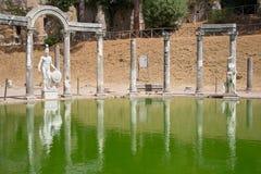 Canopus. Of the Hadrian Villa in Tivoli, Italy Stock Photos