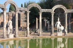 Canopus em Hadrian Villa foto de stock