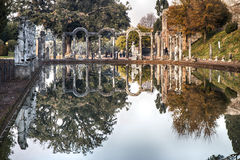 Canopus of Hadrian. Tivoli, Italy - December 19, 2015: Canopus of Hadrian. This evokes an arm of the Nile River and its estuary, which joined the eponymous city Royalty Free Stock Photography