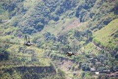 Canopy activities in Banos, Ecuador Stock Photos