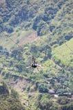 Canopy activities in Banos, Ecuador Stock Images