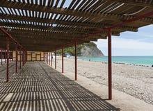 Canopy on the beach Royalty Free Stock Photo
