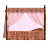 Canopy bed of louis XV. Stock Images