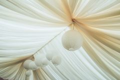 Canopy with the Chinese flashlights stock photo