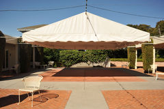 Canopy covers an open area for events Stock Images