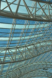 Canopy of Curves. Curved truss canopy structure at airport Royalty Free Stock Photo