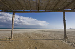Canopy over beach Stock Photography