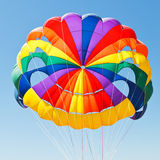 Canopy of parachute for parasailing Stock Images
