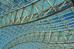 Canopy Roof. Flowing trusses support translucent roof Stock Photo