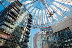 Sony Center, Berlin Germany. A canopy at the Sony Center office location at Potsdamer Platz in downtown Berlin, Germany Stock Image